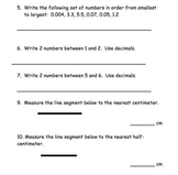 Unit 4 Everyday Math: Review Packet, Grade 4