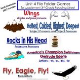 Unit 4 File Folder Games:  3rd Grade Reading Street (2007)