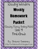 Unit 4 First Grade Homework Packet- McGraw Hill's Reading Wonders