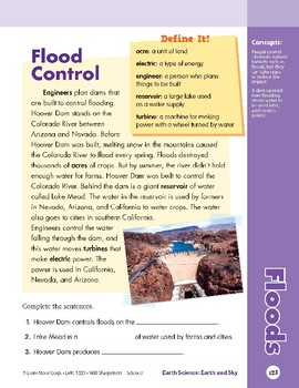 Unit 4: Floods: Concepts (Skill Sharpeners: Science)