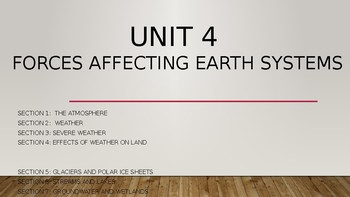 Unit 4 Forces Affecting Earth's Systems (Weather)