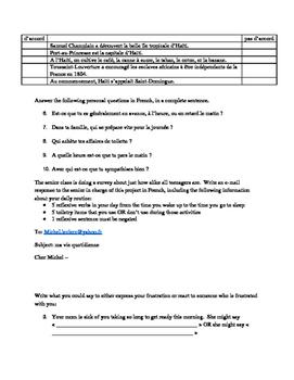 Unit 4 French 2 C'est a Toi assessment pack