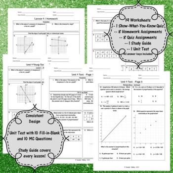 Unit 4-Graphs and Two-Variable Equations-Worksheets-7th Grade Math TEKS