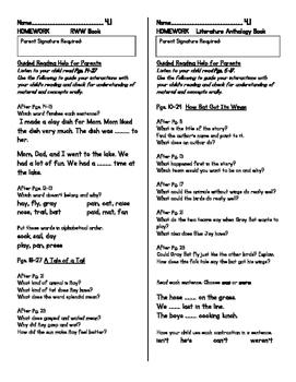 Unit 4 Guided Reading Homework WONDERS Grade 1