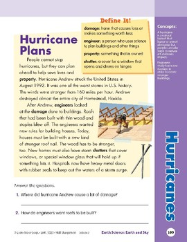 Unit 4: Hurricanes: Concepts (Skill Sharpeners: Science)