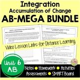 Calculus Integration MEGA Bundle with Video Lessons (AB Version - Unit 6)