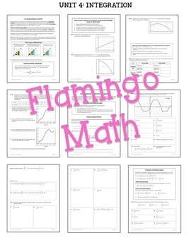 Calculus: Integration Guided Notes & Homework Bundle