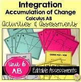 Calculus Integration Activities & Assessments  (AB Version