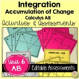 Calculus Integration Activities & Assessments  (AB Version