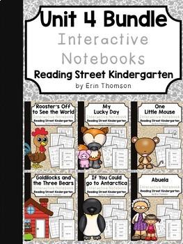 Unit 4 Interactive Notebooks Bundle ~ Reading Street Kindergarten