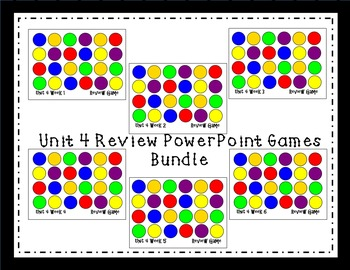 Unit 4 Interactive Review Games for Smart Notebook. Readin
