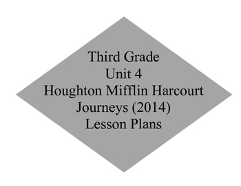 Unit 4 Journey's Lesson Plans 16-20