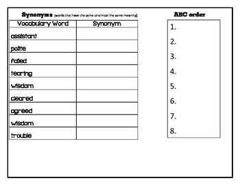Unit 4 Journeys 2nd grade Vocabulary & Spelling Helper