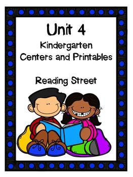 Unit 4, Kindergarten, Centers and Printables