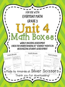 Unit 4 Math Boxes - Third Grade