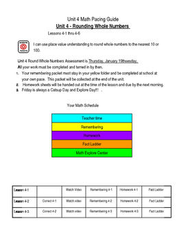 Unit 4 - Math Expressions Self-paced Guide