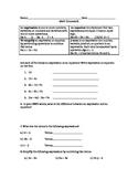 Unit 4 Math Expressions introduction homework