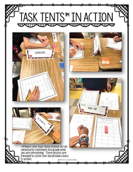 Task Tents™ - Math Edition {5th Grade Unit 6}