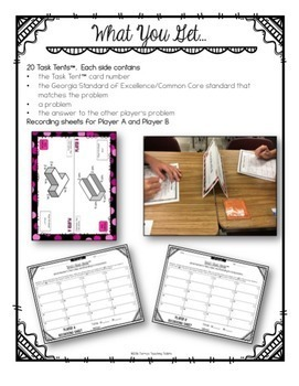 Task Tents™ - Volume and Measurement {5th Grade Unit 6}