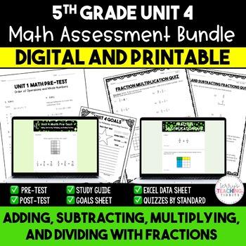 Fraction Math Resources *5th Grade* {Unit 4}