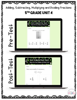 Fraction Math Resource Bundle *5th Grade* {Unit 4}