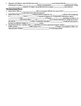Unit 4 Notes (The Legislative Branch)