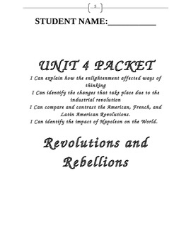 Unit 4 Packet- Revolutions and Rebellions