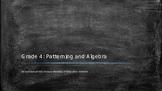 Unit 4: Patterning and Algebra power point presentation
