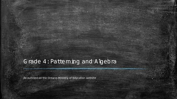 Unit 4: Patterning and Algebra power point presentation