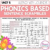 Unit 5 Phonics Based Sentence Scrambles