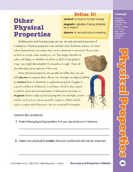 Unit 4: Physical Properties: Concepts (Skill Sharpeners:Science)