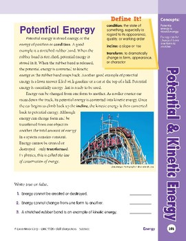Unit 4: Potential and Kinetic Energy: Concepts (Skill Sharpeners: Science)