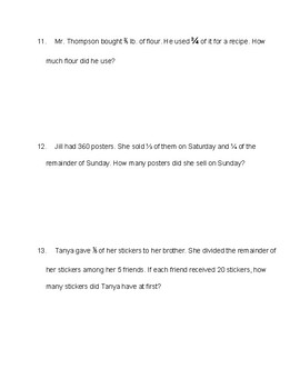 Singapore / Primary Mathematics Grade 5 Unit 4 Practice Test Review
