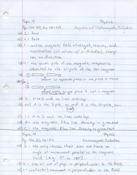 (Unit 4, Q's 100-109) Magnetism and Electromagnetic Induction pdf