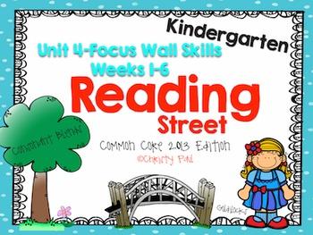 Unit 4 Reading Street Kindergarten Focus Wall