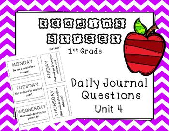 Unit 4 Reading Street Weekly Journal Ideas. 1st Grade.