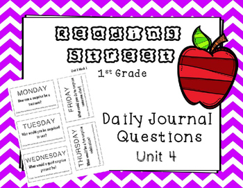 Unit 4 Reading Street Weekly Journal Ideas. 1st Grade.