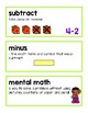 Unit 4 Ready Math Vocabulary Cards for Kindergarten