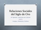Unit 4 -  Relaciones Sociales - Siglo de Oro - AP Spanish
