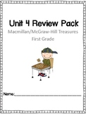 Unit 4 Review Pack Macmillan/McGraw Hill Treasures First Grade