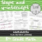 Unit 4 - Slope and y-intercept - Worksheets - 8th Grade Math TEKS