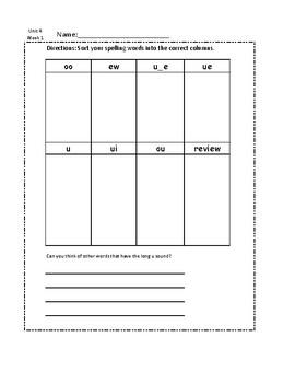Unit 4 Spelling Bundle