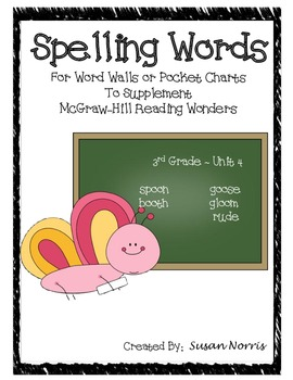 Unit 4 Spelling Words ~ McGraw-Hill Reading Wonders
