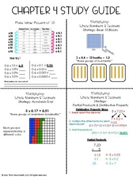 Unit 4 Study Guide (Multiplying Decimals)