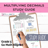 GOMath Grade 5 Chapter 4 Study Guide (Multiplying Decimals)