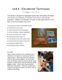 Unit 4 - Teaching Students with ASD -- How Hard Could this Be?