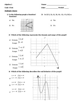 Unit 4 Test - Attributes of a Function