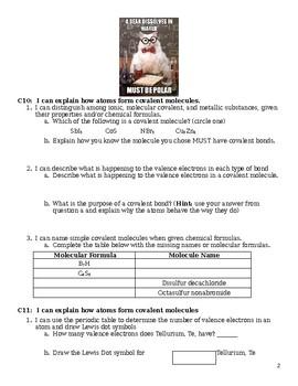Test Unit 4 - Covalent Bonding