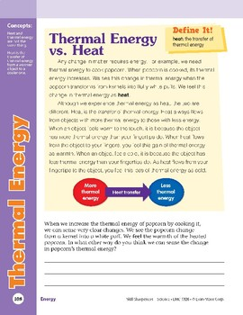 Unit 4: Thermal Energy: Concepts (Skill Sharpeners: Science)