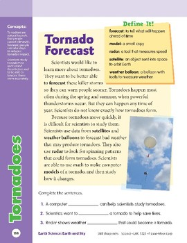 Unit 4: Tornadoes: Concepts (Skill Sharpeners: Science)